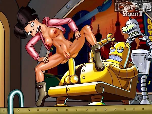 amy follando a los robot futurama xxx