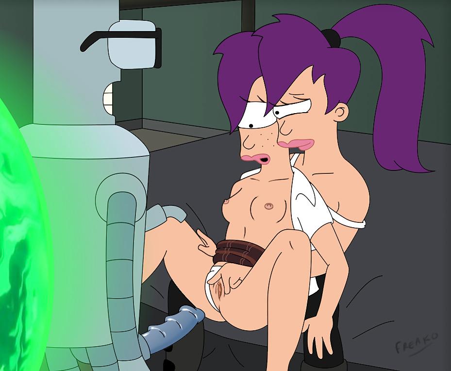 Leela  incesto con su hermana Futurama