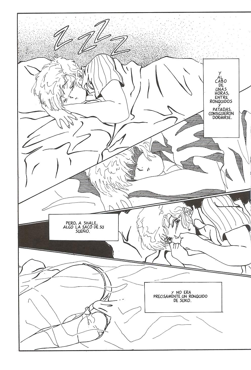 sexo en la cama durante el manga porno