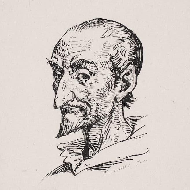 Dibujo a lápiz de Don Quijote